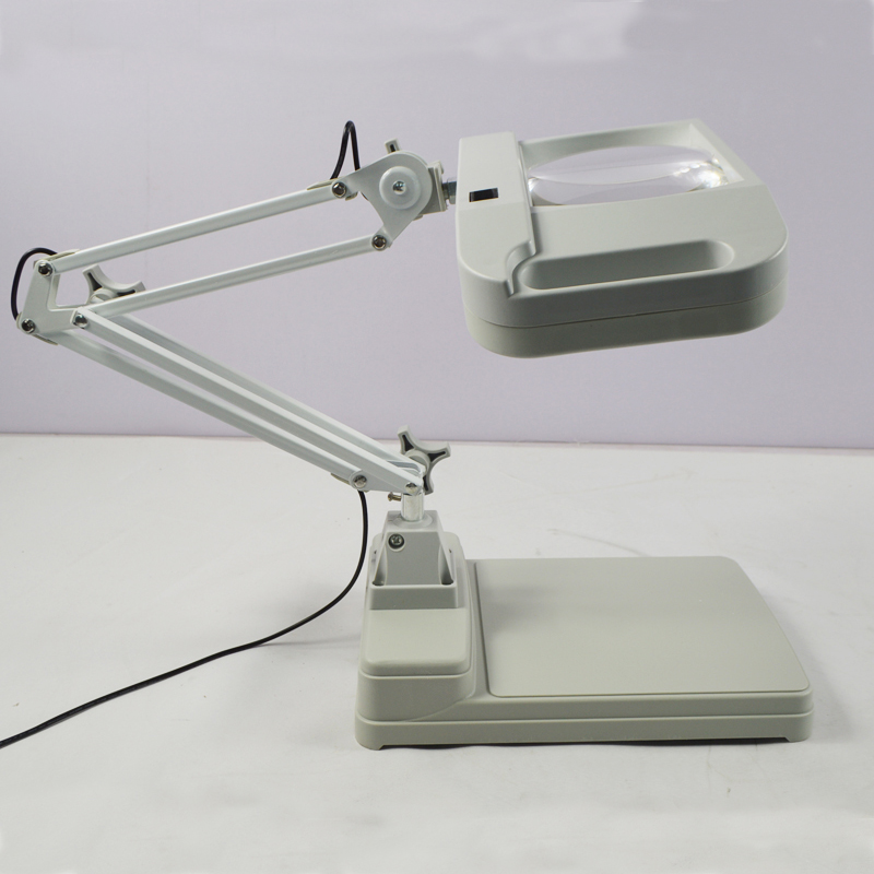 110v 220v 10x Desk Table Lighting Magnifier Lamp Light
