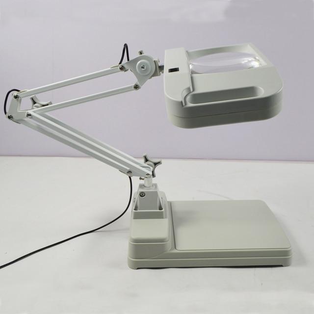 110V/220V 10X Desk Table Lighting Magnifier Lamp Light Desk Magnifier Lamp  Loupes Glass Lens