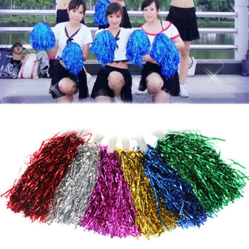 1 PCS Cheering cheerleaders pom poms flower for sports meet football Soccer basketball tennis match games event 7 Colors