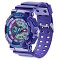 Marca HOSKA relógios das Mulheres relógio do esporte De Quartzo e digital Duplo display digital-relógio show LED relógio digital à prova d' água h016-v