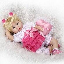 55cm Silicone Reborn Baby Doll Toys Simulation Vinyl Princess Dolls High end Girls Birthday Gift Present