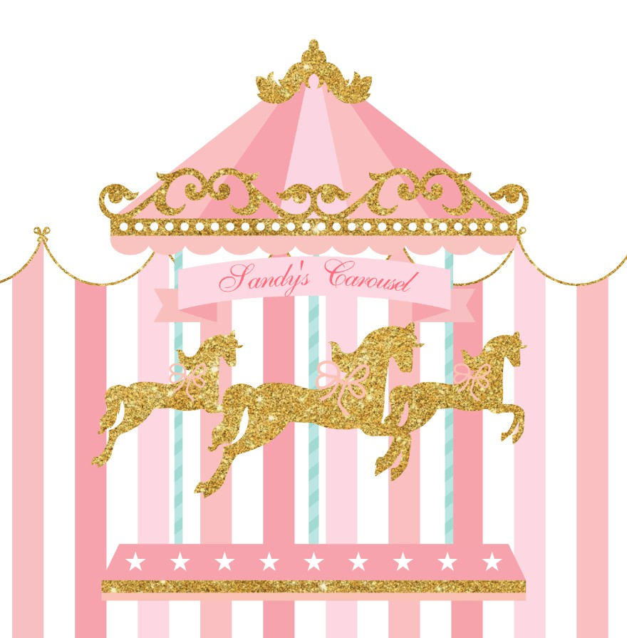 c3d9287ce7 US $25.5 15% OFF|Aliexpress.com : Buy custom Carousel Horse First Birthday  Pink Circus Star background High quality Computer print party backdrop from  ...