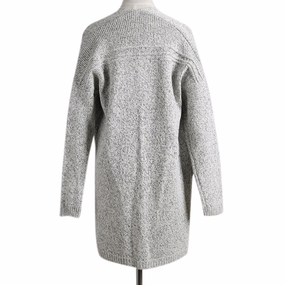 Aliexpress.com : Buy AOWOFS Gray Cardigan Women Long Knitted ...