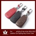 Top Leather Layer Styling Car Key Case Para audi a4 b9 4 m tt q7 8 s Accesorios de Automóviles 2016 2017