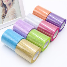 25Yards/Lot 7.5cm Sparkly Confetti Glitter Tulle Mesh Roll Spool Tutu Soft Squine DIY Wedding Party Birthday Decoration