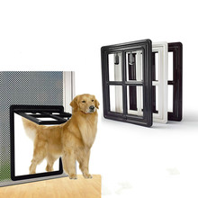 Lockable Dog Door Gate Plastic Dog Automatic Magnet Kitty Door for Screen Window Security Flap Tunnel Fence Free Access for Home цена