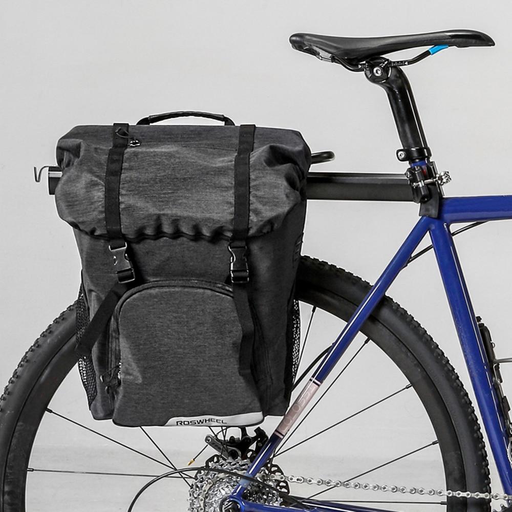 Lixada Large capacity Waterproo Bike Bag Bicycle Rear Rack Pannier Cycling Pack MTB Road Bike Saddle Rack Bag Bike Accessories Bicycle Bags & Panniers     - title=