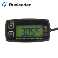 Digital LCD RL-TS001 PT100-20-+ 300 grados Celsius meter tach hour theomometer temperatura medidor de motor de gas motocicleta marina