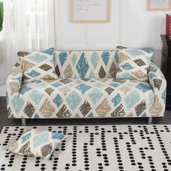 SunnyRain 1-Piece Retro Rhomboids Elastic Sofa Covers For Living Room Slipcover For I Shaped Sofa Cover Couch Cover