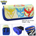 Elf treasure can dream go Pokemon pen GO flame bird logo double zipper bag with large capacity