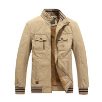 New Men's Inner Fleece Thicker Warm Winter Jacket Male Army Military Cotton Jackets Windbreaker Coat Parkas casacas para hombre