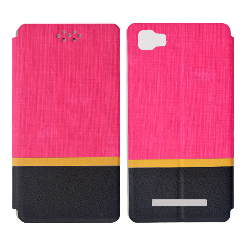 Mahar Saya Lembut TPU Case Silikon + Fashion Multicolor Flip Penutup Case Kulit PU untuk Dexp Ixion EL450 Kekuatan Ponsel