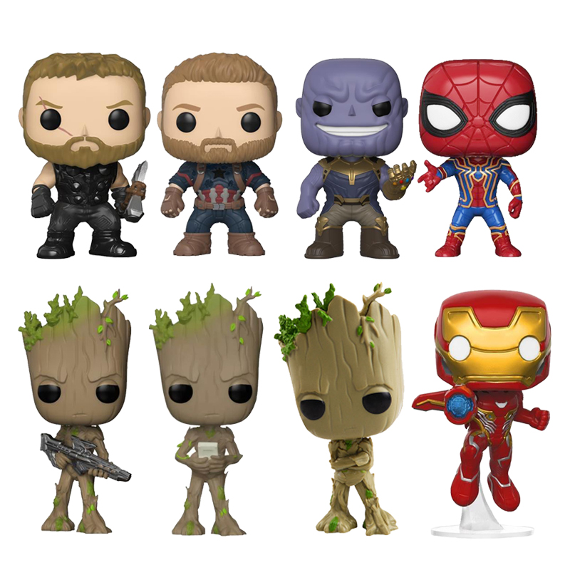 Marvel Avengers 3 Infinity War Thanos Ironman Spiderman Captain American Hulkbuster Black Panther Figure Vinyl Model Toys marvel avengers infinity war thanos ironman spiderman thor captain american venom hulk black panther figure vinyl model toys