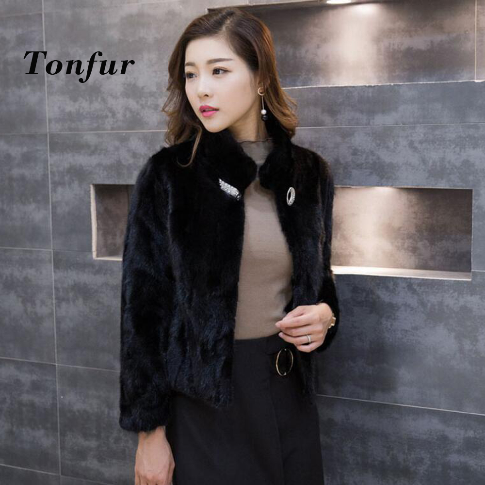 New genuine natural mink fur coat women s jacket high fashion good quality colorful mink fur