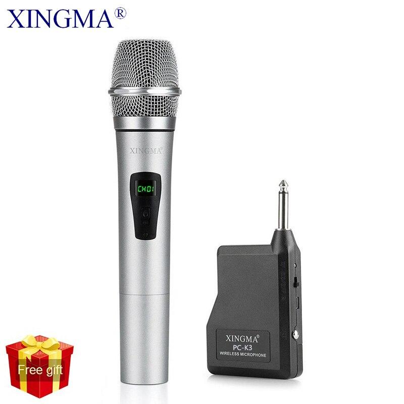 XINGMA PC-K3 Microfone Sem Fio Profissional VHF Dinâmico Metal Handheld Microfone Com Receptor Para Computador PC KTV Cantar Karaoke