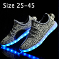 Size 25-45 Fashion Children LED Shoes with Light Up Kids Girls Boys Glowing Shoes Basket Femme LED Slippers Luminous Sneakers