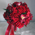 2017  Red Wedding Flowers Elegant 3pcs Wedding Hand Holding Flower/ Wrist Flower/Corsage Wedding Accessory Set Artificial Bouque
