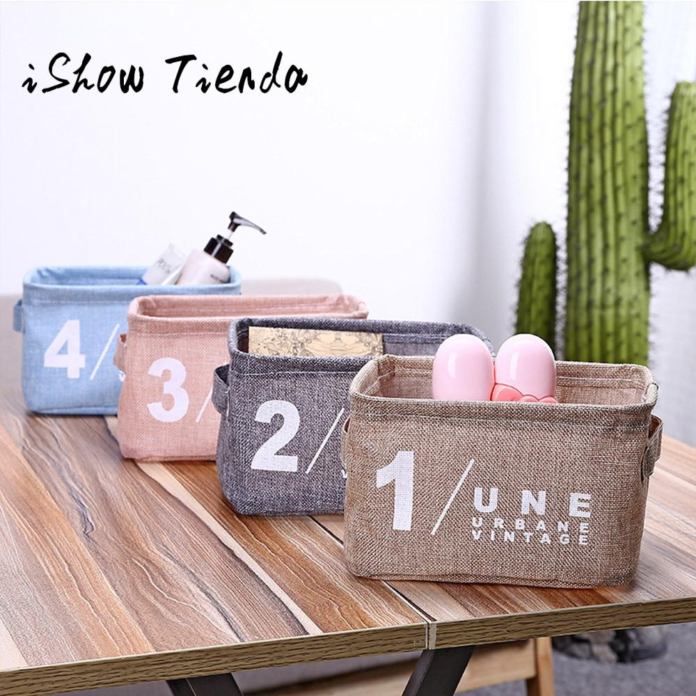 New Fashion Foldable MutiColors Storage Bin Closet Toy Box Container Organizer Fabric Basket Office Desk Storage Jewelry#35
