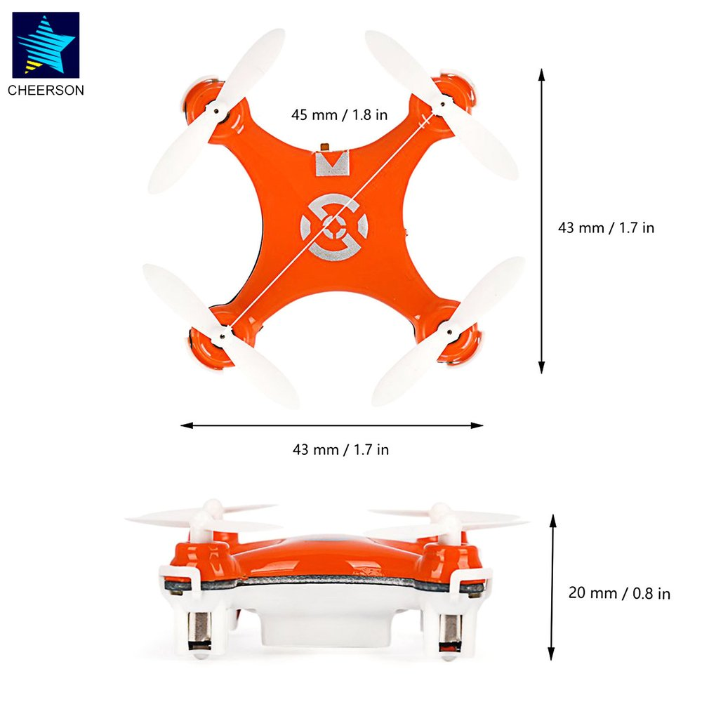 RC helikoptere Radio Control Aircraft Headless Mode Drone Quadcopter - Fjernstyret legetøj - Foto 6