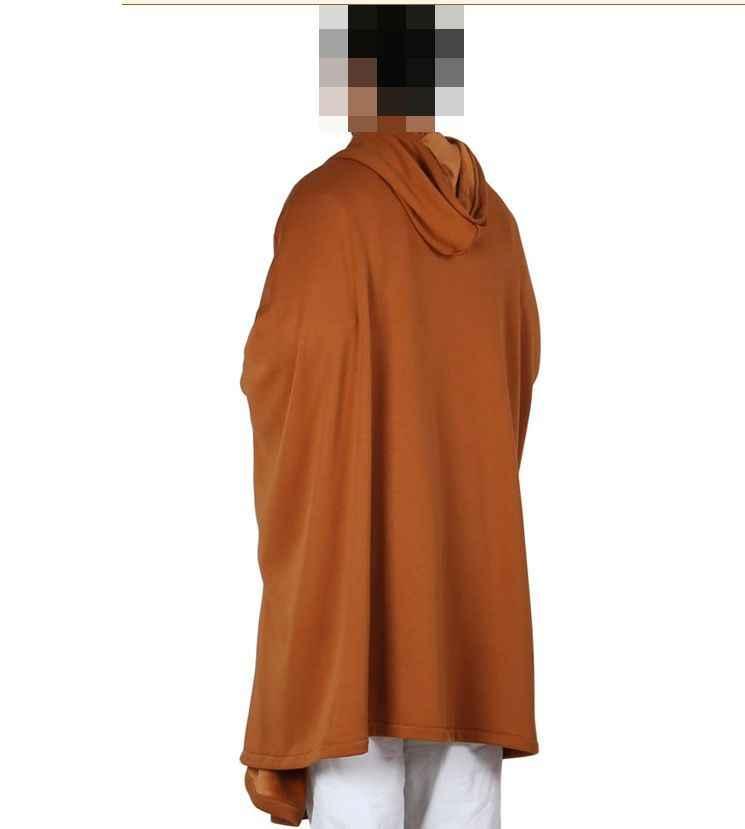 6 colores Unisex algodón capa de meditación capa invierno y otoño ropa budista trajes artes marciales capa uniforme gris/marrón /rojo/verde