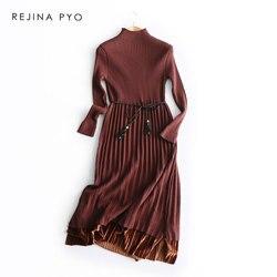 Тёплое платье шоколадного цвета