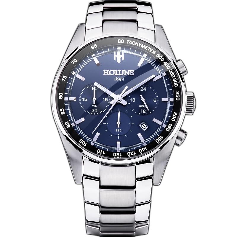 Hot Dropship 100% Full Steel Men Watch Military Wrist Watches Chronograph Fashion Men Sports Watch Waterproof Relogio Masculino все цены