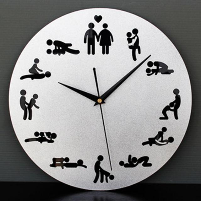 f4983a0768f8 24 horas Relojes de pared del reloj diseño creativo Sex Position reloj  novedad parejas dormitorio decoración