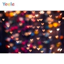 Yeele Baby Painting Love Heart Party Wallpaper Shiny Light Bokeh Portrait Photography Background Photo Backdrops Studio