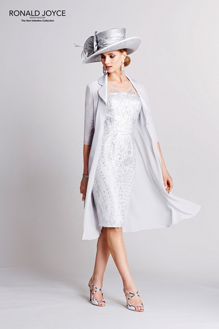 W384 2016 White Jersey Sheath Mother Of The Bridal Dress Knee Length Sheer Lace Scoop Neck