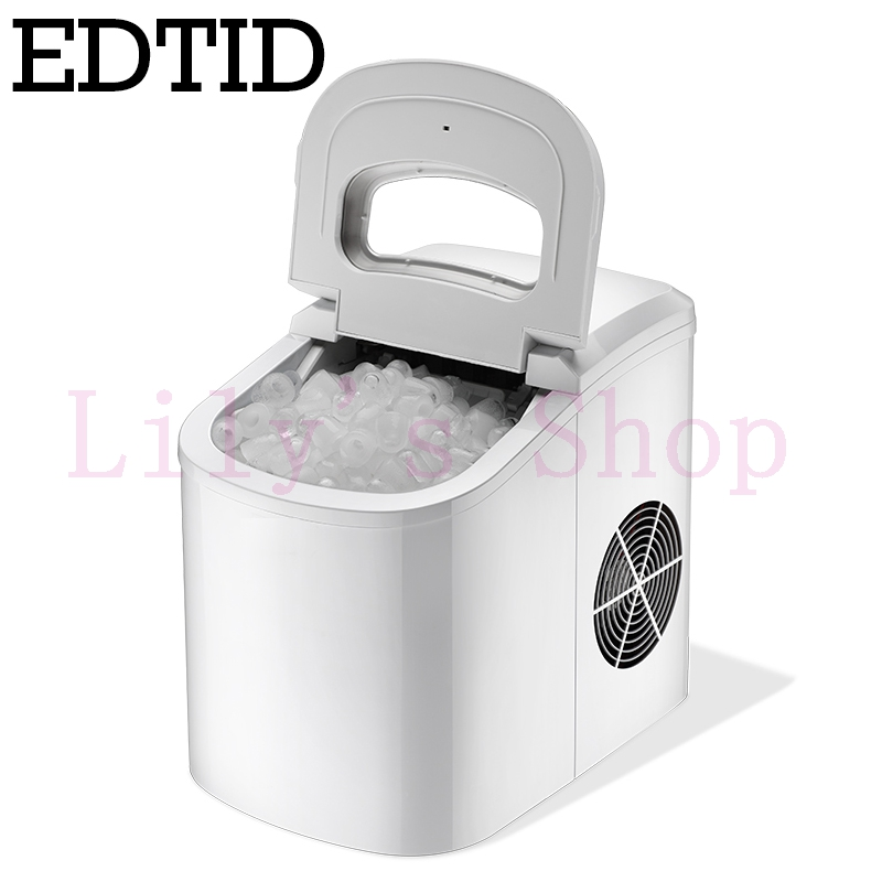 EDTID 15kgs/24H Portable Automatic ice Maker Household bullet round ice making machine for family small bar mini coffee shop edtid 12kgs 24h portable automatic ice maker household bullet round ice make machine for family bar coffee shop eu us uk plug