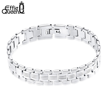 Effie Queen Personality High Quality Stainless Steel Men Bracelet Jewelry Hand Chain Bangle Accessories for Men 2017 New IB81 effie queen 100