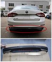 Высокое качество Черный PP задний бампер диффузор, авто заднего губ с хромированной линией для skoda Octavia 4dr или 5dr 2015 2016 2017