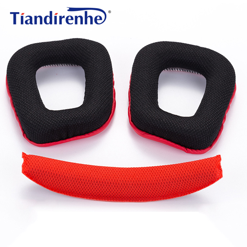 Headphone Earpads Covers for Logitech G35 G930 G430 F450 Headphone Cushion Pad Replacement Ear Pads Head Beam Sponge image