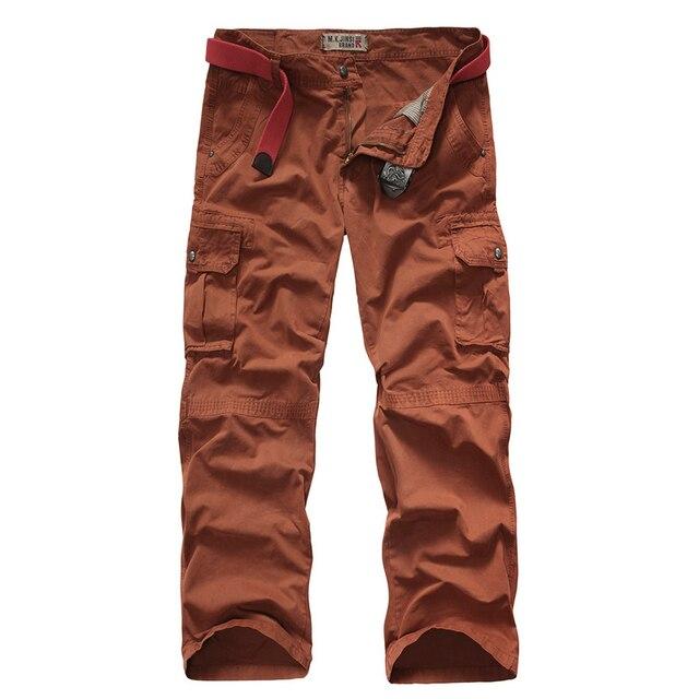 Осень мужчины тактические брюки грузов рабочие брюки pantalon homme 29-38 CYG88