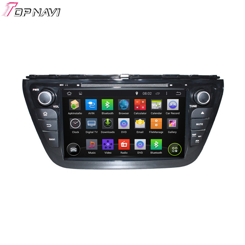 Topnavi Quad Core Android 5.1 Car GPS Navigation for SX4 2014 S Cross 2014 Car DVD Multimedia Audio Radio Stereo In Dash