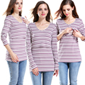 Emotion Moms Long-sleeved Cotton Maternity Nursing Top Clothes Breast Feeding Clothing for Breastfeeding Shirt Maternity Tops
