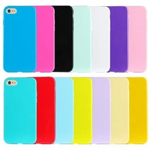 12 Colors Soft TPU Candy Color Phone Cases for Iphone 6 6s Plus 5s 5 SE 5C Solid Color Phone Covers for Iphone 6 Coque Capa