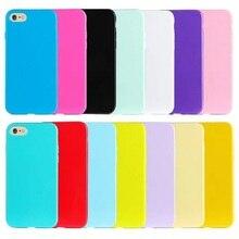 12 cores doces tpu macio casos de telefone de cor para iphone 6 6 s plus 5S 5 se 5c telefone capas para iphone 6 coque capa cor sólida