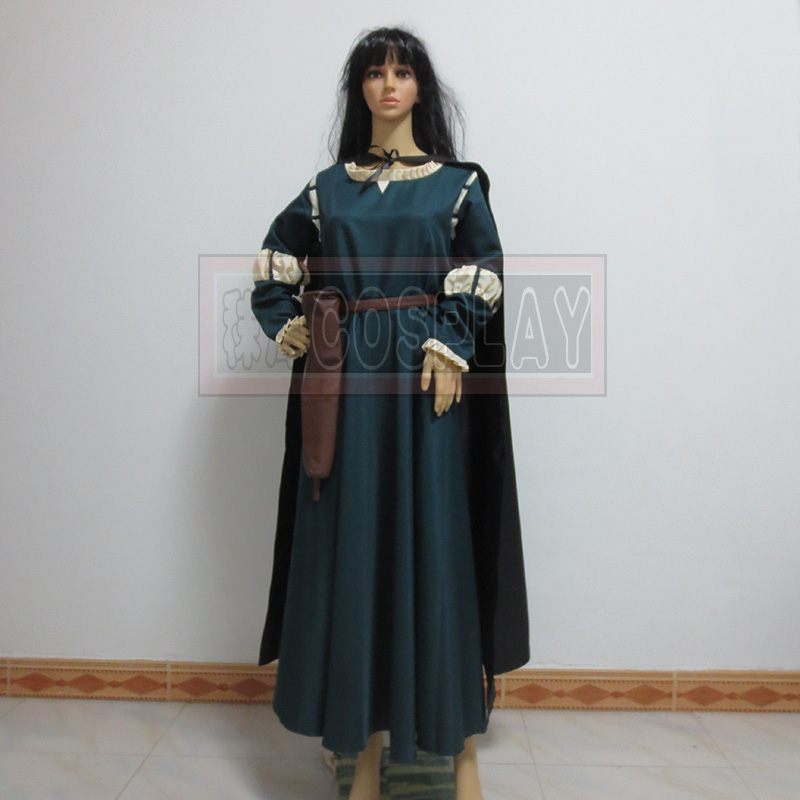 Movie Brave Princess Merida Dress Cosplay Costume Custom-made Any Size