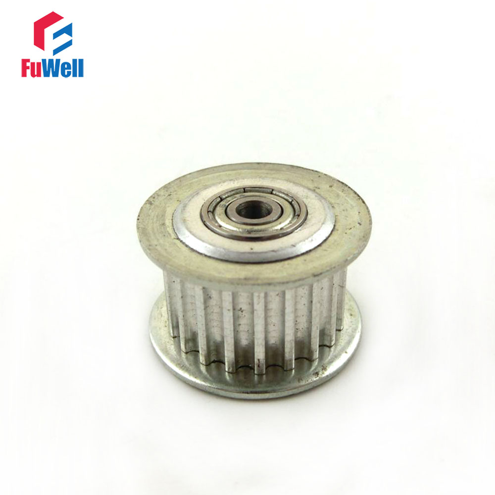 5//6mm Hole HTD3M 20 Teeth 16mm Width Timing Belt Idler Pulley With Bearing