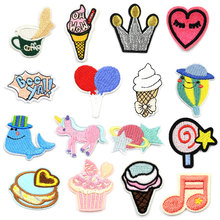 Iron Patches for Clothing Cartoon on Applique Patch Clothes Stickers Children Applications Accessories Garment Badges