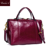 Contact S Women Practical Bag Handbags Brand Designer Office Bag Organized Women Leather Handbags Functional Beautiful