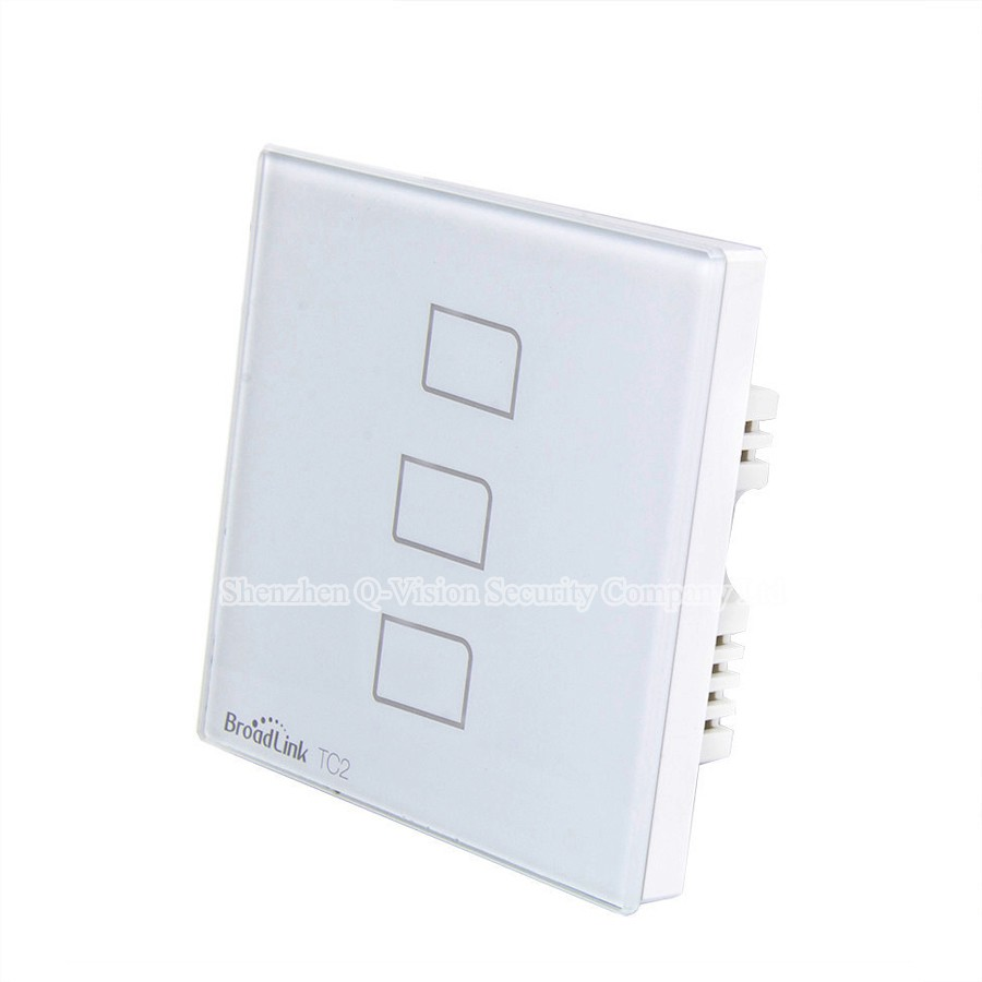 4--Broadlink UK Standard TC2 3 Gang Wireless Remote Control Wifi Wall Light Touch Switch RF433MHZ AC110V-240V Smart Home Automation