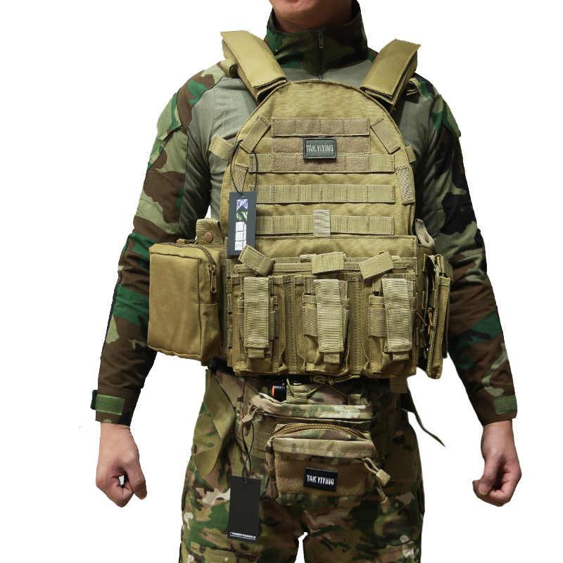 TAK YIYING Taktis Rompi Pelindung Tubuh Dengan Mag Kantong Berburu Airsoft Militer Tempur Aksesoris