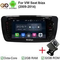 Android 6.0.1 Radio Samochodowe GPS Nawigacja Multimedia nadające się do SEAT Ibiza Z Audio iPod Wifi 4G 2G RAM 32G ROM OBD Radio DVD GPS