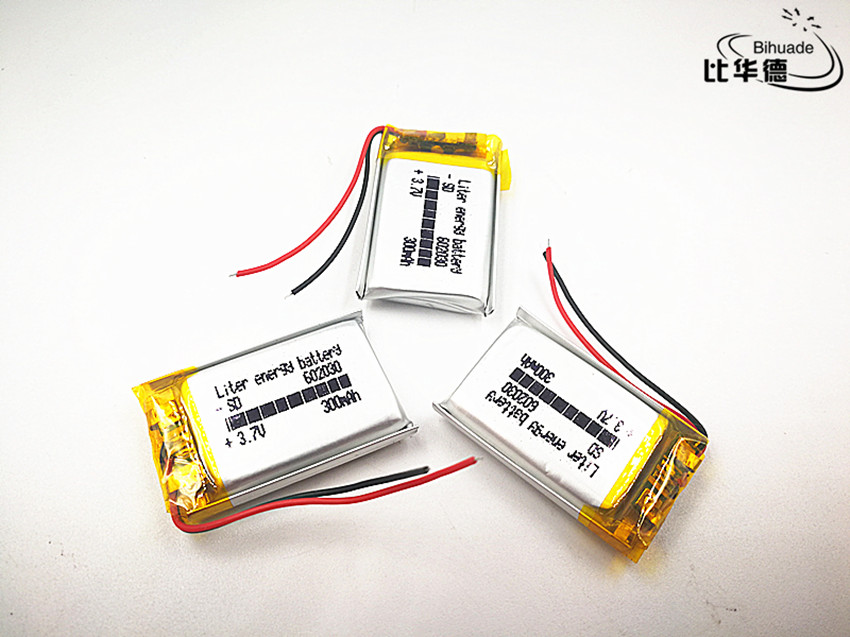<font><b>602030</b></font> 3.7v 300mAh li-ion Lipo cells Lithium Li-Po Polymer Rechargeable Battery For Bluetooth speaker Tachograph Car Camera image