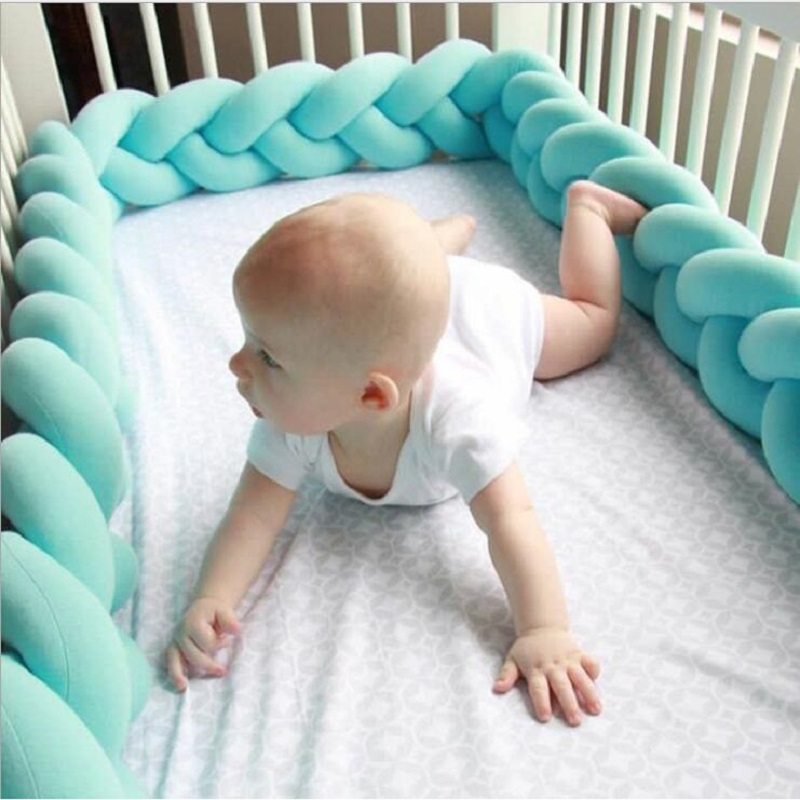 Nordischen Stil Langen Verknotet Kissen Dekorative Kissen Sofakissen Wohnkultur Baby Bett Braid Stoßfänger in die Krippe Spielzeug
