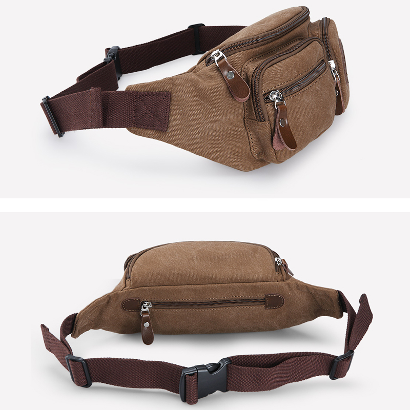 Muzee Men Canvas Waist Väska Pack Purse Money Phone Bälte väska - Bälten väskor - Foto 5