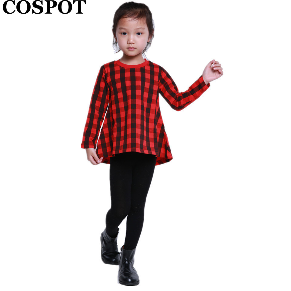 Christmas dress casual - Baby Girls Christmas Red Plaid Dress Girl Winter Autumn Casual Dresses Girl S Cotton Fashion Long Sleeve Xmas Dress 3 10 Yrs 30e