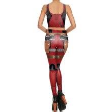 Deadpool Bodysuit Suit Cosplay Costume Halloween For Woman Bra Top Jumpsuits